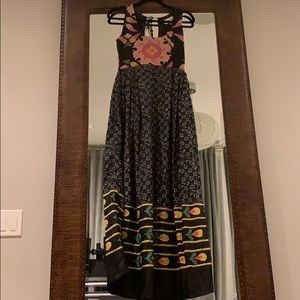 Black floral maxi bought from Anthropologie